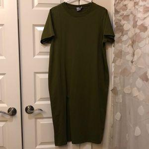 Asos T-Shirt Midi Dress with split